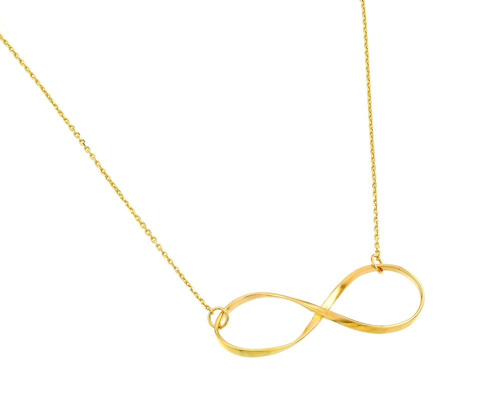 "Sterling Silver ""Infinity"" Necklace Yellow Gold Plated"